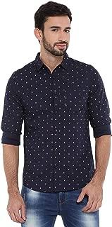 Chennis Mens Causal Shirt(Navy)
