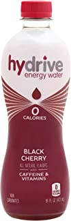 Hydrive Energy Water | Black Cherry | Sugar Free | Zero Calories | All Natural Flavors | Natural Energy | 16 oz (Pack of 12)