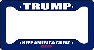 Rogue River Tactical Donald Trump License Plate Frame MAGA Republican Conservative Novelty Tag Vanity Gift Keep America Great Blue