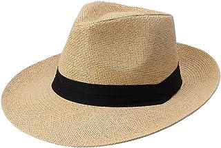 قبعة إكساس أزياء للرجال والنساء بنما صن سترو قبعة تباين شريط بينش تاج ملفوف تقليم قبعة الشاطئ