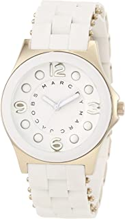 Marc by Marc Women's MBM2526 White Silicone Quartz Watch with White Dial
