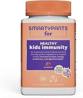 Sponsored Ad - SmartyPants Kids Immunity Daily Gummy Multivitamins: Vitamins C, D, A, & Zinc for Immunity; Elderberry & Gi...