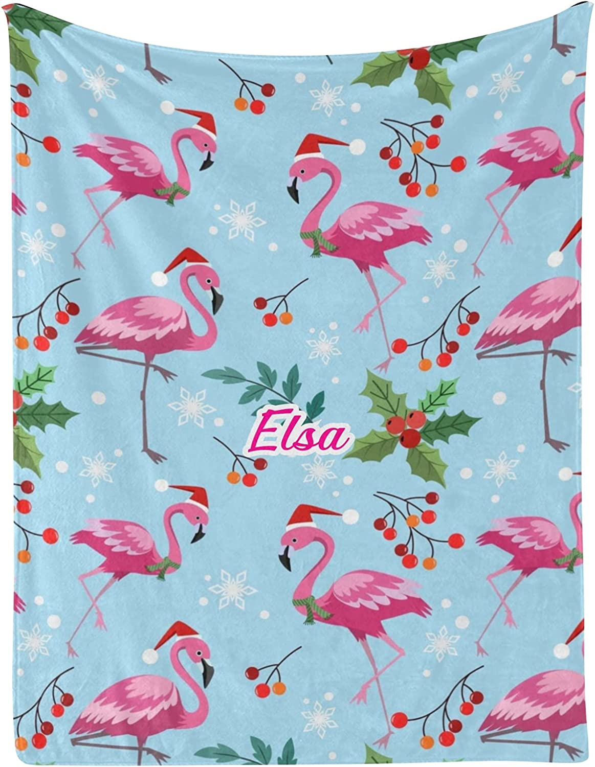 trend rank Christmas Flamingo Berry Snowflake NEW Blankets wi Personalized Baby