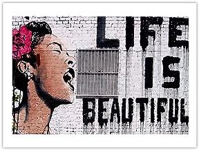 Life is Beautiful Billie Holiday 18x24 Poster Banksy Graffiti Art