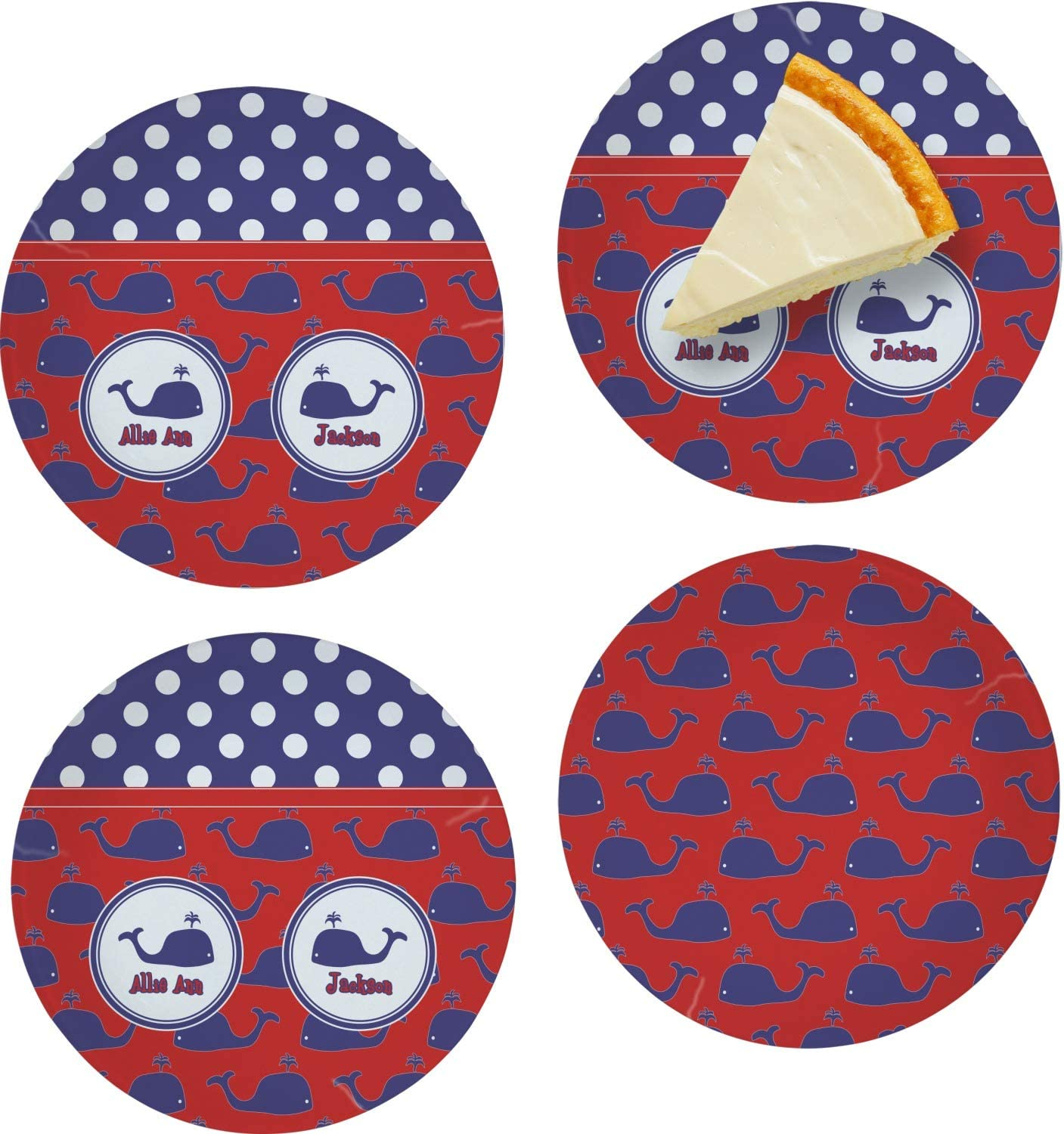 Whale Set Challenge the lowest price Our shop OFFers the best service of Japan 4 Glass Plate Dessert Appetizer Personalized 8