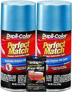 Dupli-Color Medium Maui Blue Metallic Exact-Match Automotive Paint for GM Vehicles - 8 oz, Bundles with Prep Wipe (3 Items)