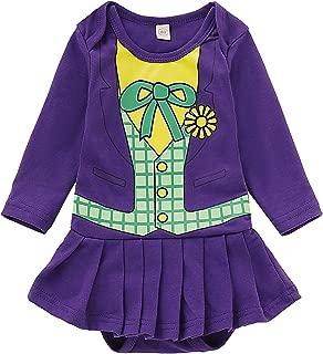 MoryGooder Baby Girls Halloween Costume Funny Clown Bodysuit