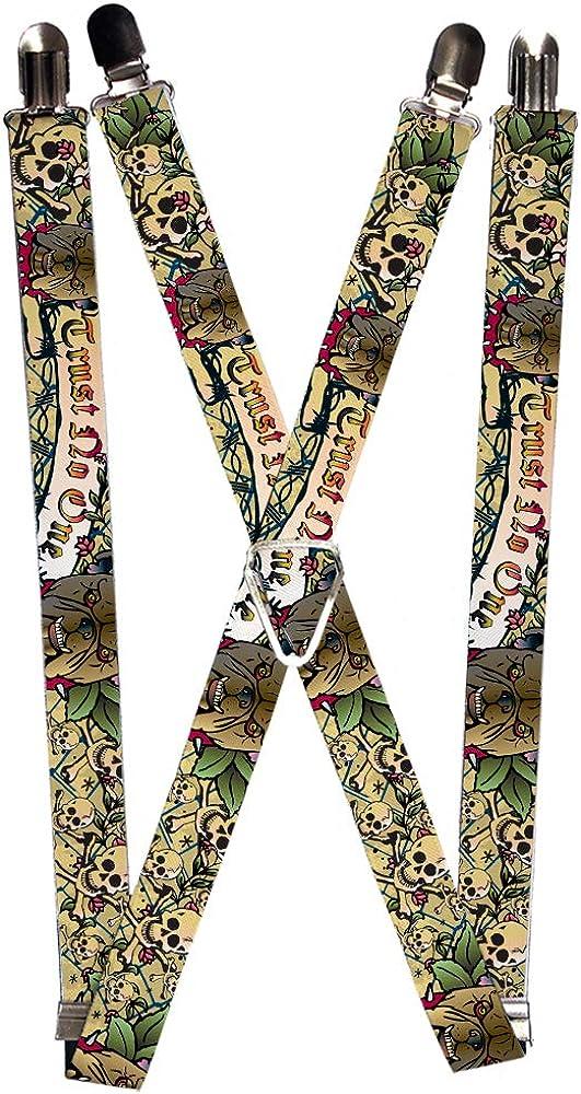 Buckle-Down Suspender - Trust No One Tattoo