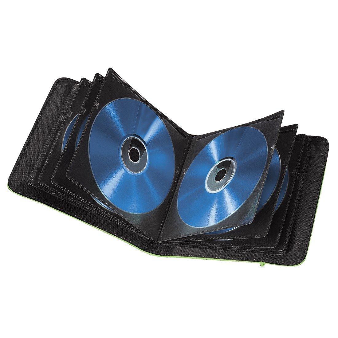 Hama - Funda para Almacenamiento de CDs/DVDs (24 Ranuras), Color Verde: Amazon.es: Electrónica