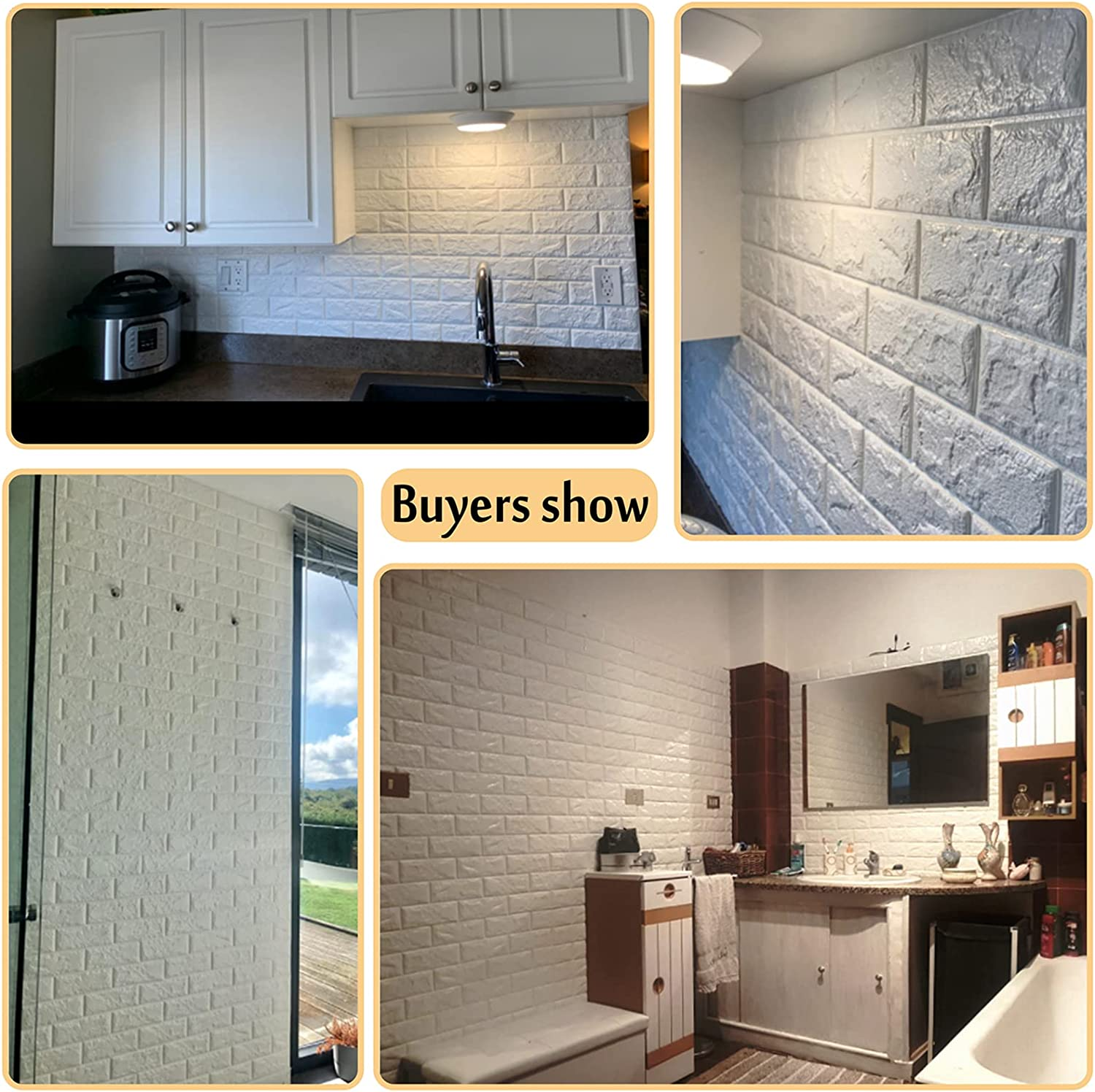 Buy Arthome 3d Faux Brick Wall Panels 20pack Cover 113 Sq Ft Peel And Stick Self Adhesive Wallpaper Foam Tile Decor For Living Room Bedroom Background Wall Decoration White 20pack Online In Vietnam B07b5zdspc