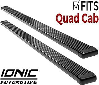 Ionic Billet Black Running Boards 2002-2008 Dodge Ram Quad Cab