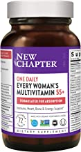 New Chapter Multivitamin for Women 50 Plus + Immune Support - Every Woman's One Daily 55+ with Fermented Probiotics + Whole Foods + Astaxanthin + Organic Non-GMO Ingredients - 72 ct