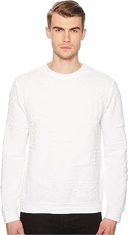 Logo Textured Sweatshirt