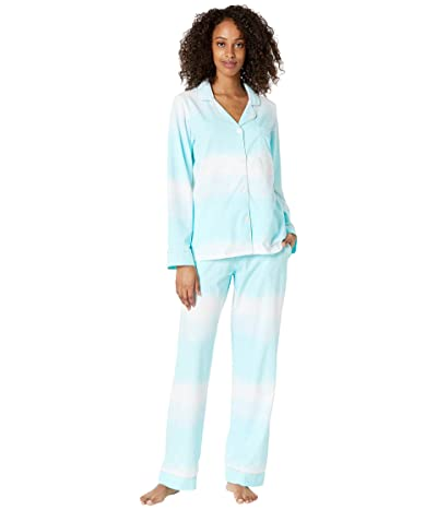 BedHead Pajamas Long Sleeve Classic Notch Collar Pajama Set (Cotton Spandex) (On Cloud Nine) Women