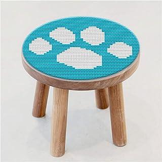 Enfants Latch Crochet Craft Kit, broderie pour débutant bricolage de bricolage arrière-plan de plancher rond décoration ma...