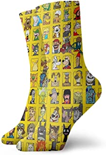 eneric, Anime Spirited Away Totoro Snoopy Calcetines Crew Divertido Casual Unisex Adulto Niños Anime Impresión Tobillo Niño Acogedor Calcetín Cool 90