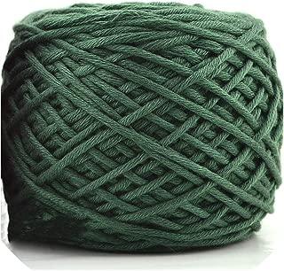 400g Natural Wool Chunky Yarn Felt Wool Roving Soft Yarn for Spinning Hand Knitting Spin Yarn,26 Dark Green