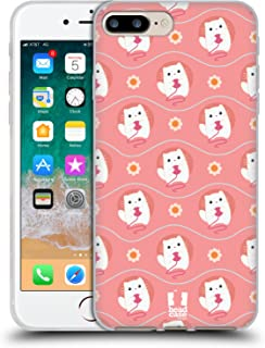 Head Case Designs Kitty Cutie Animal Patterns Soft Gel Case and Matching Wallpaper Compatible with Apple iPhone 7 Plus/iPh...