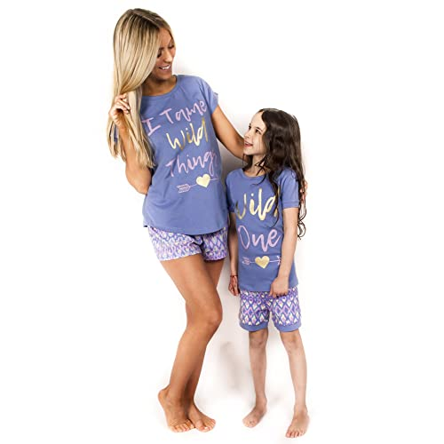 239e6a563d Peace Love   Dreams Mommy   Me Matching Wild Ones Pajamas –Blue