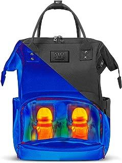 Baby Diaper Bag Girl&Boy, Baby Bookbag Diaper Backpack with Breast Milk Heating Function, Big Black Diaper Bag for Women&Men, Mom Nappy Bag Backpack, Large Capacity Waterproof Diaper Bag - I vvant it