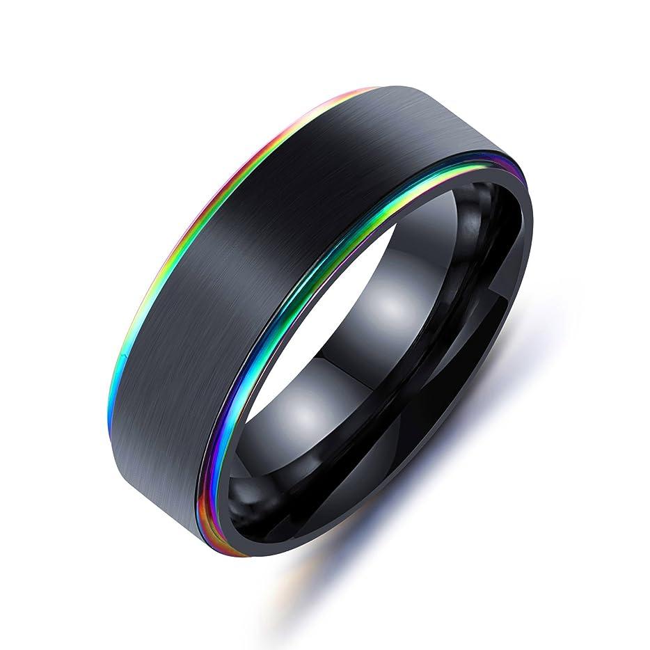 判決有力者好きAIKS ブランド ファッション メンズリング チタン 男性指輪 シンプル