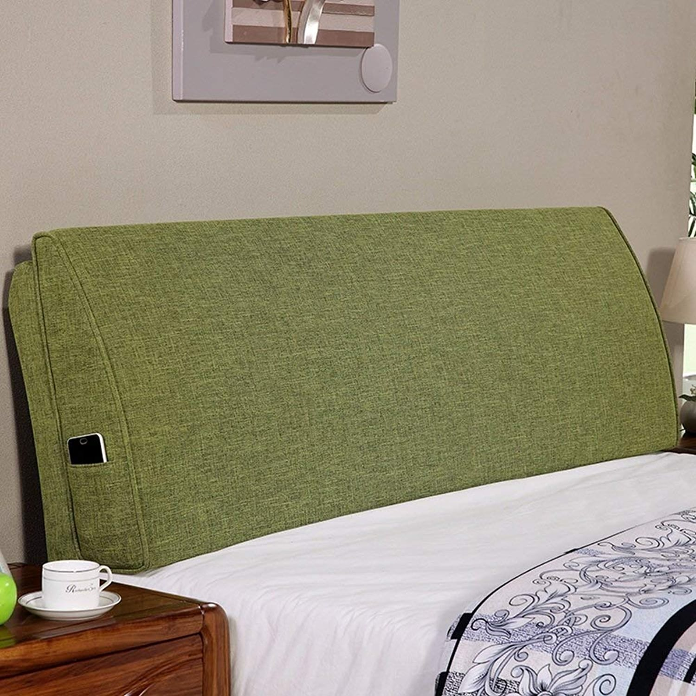 Coussin De Chevet Coussin de Chevet avec Support de Tête de Lit Doubleure de Chevet Oreiller Simple Ou Double Lecture Grand Dossier Prougeéger La Taille, 6 Couleurs ( Couleur   vert , Taille   150x50x12cm )