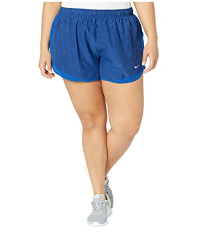 Nike Dry Tempo 3 Running Short (Size 1X-3X) (Blue Void/Indigo Force/Wolf Grey) Women