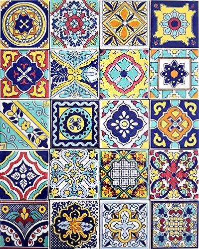 Set 20 Piastrelle cm 10x10x1 in Ceramica per Patchwork S10PTW20