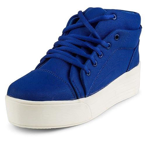 DARLING DEALS Women s Casual Mesh Blue Shoes for Girls