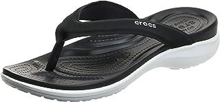 Crocs Chanclas Capri V Sporty para mujer | Casual Cómoda Sandalias para Mujer Chancletas para Mujer