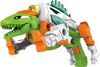 CoolToys 17 pc Dino Morpher with Exciting Lights and Lively Sound Effects  Super Transformation Set with Electric Drill- Green