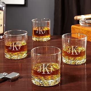 Buckman Classic Monogram Whiskey Glasses, Set of 4 (Personalized Product)