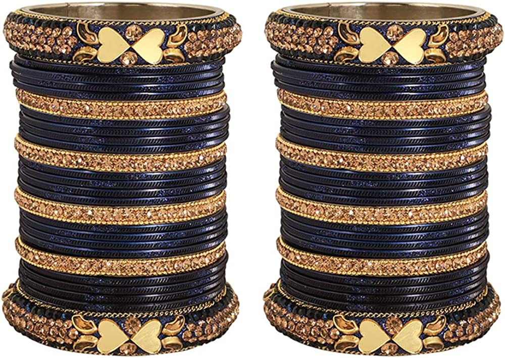 GLINT STORE Amazing Indian Bollywood Matt Bangles Bracelets Wedding Pair for Women Jewelry