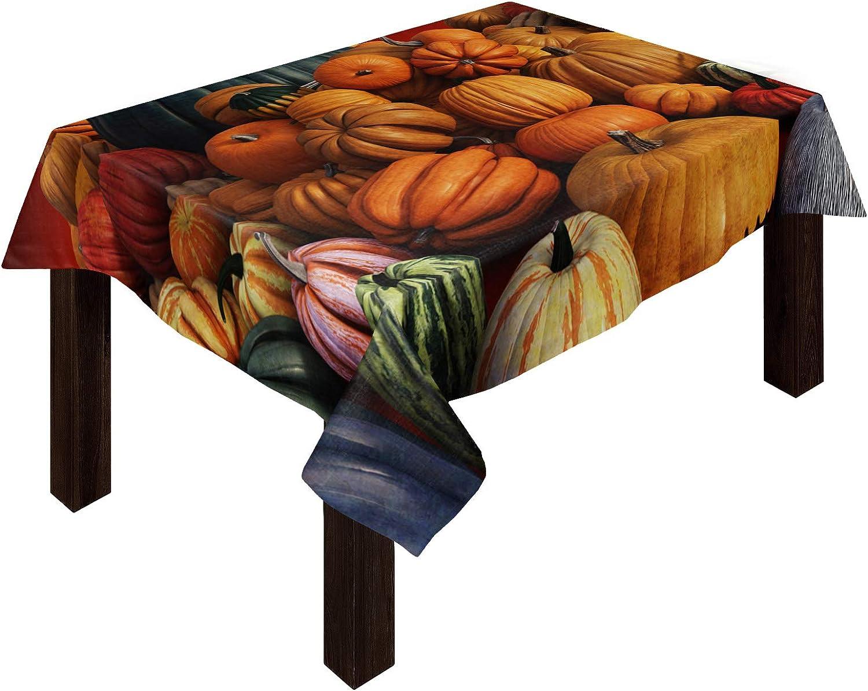 1 year warranty Cotton Linen Tablecloths Thanksgiving Day Pumpkin 3D Harve In stock Good