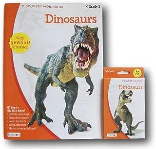 ''Dinosaurs'' Discovery Workbook with Reward Stickers and Flash Card Bundle - Kindergarten-2nd Grade