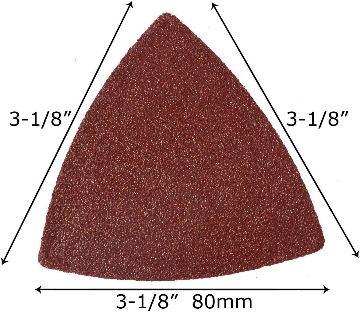 oszillierend 55 St/ück XXGO XG5501U Schleifpapier 80 mm dreieckig K/örnung 60//80//100//120//240