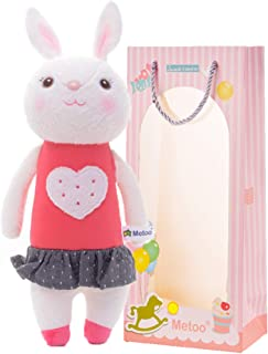 Me Too Valentine's Day Plush Bunny with Heart 11 inches with Gift Box