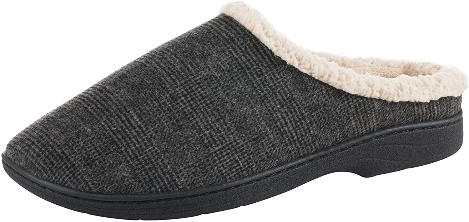 Men's Microsuede Devin Slip On Slipper with with Cooling Memory Foam for Indoor Outdoor Comfort