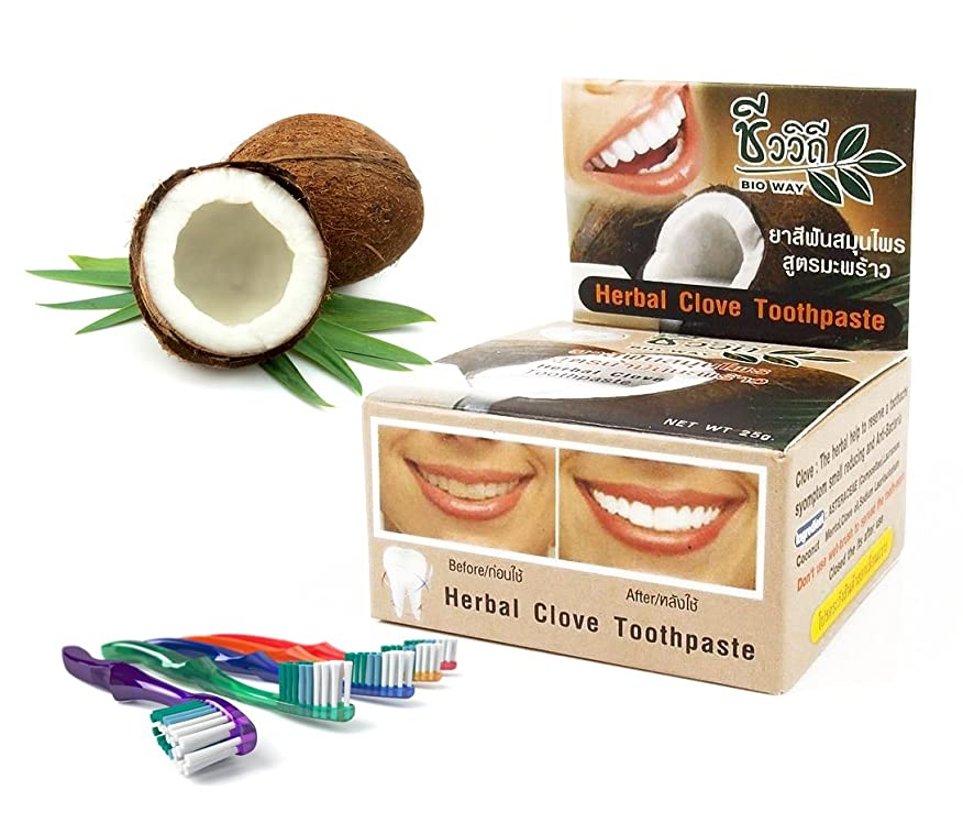 Mangos Teen. Toothpaste Coconut Natural Herbal Clove Teeth Whitening Help Eliminate Limestone Cigarette Coffee Reduced to have a Hypresensitive Tooth Anti Bacteria You have Fresh Breath for Along Time.