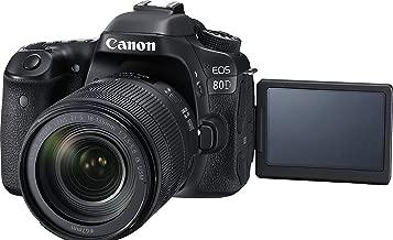Canon EOS 80D Super Kit with EFS 18-135mm f 3.5-5.6 IS USM Digital Camera - SLR(80DSK) 3Inch Display,Black (Australian warranty)