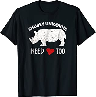 Chubby Unicorns Needs Love Too T-shirt Rhino Rhinoceros Tee