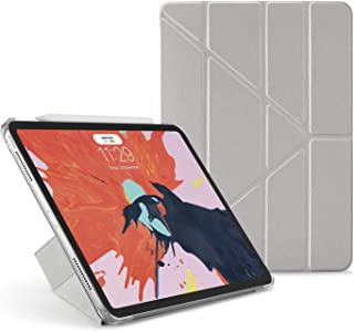 "Pipetto Origami iPad Case Pro 11"" (2018) with 5 in 1 Stand & auto Sleep/Wake Function Silver/Clear"
