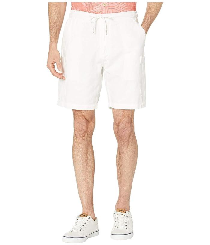 Reyn Spooner Linen Cargo Shorts (White) Men