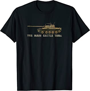 T55 Russian Army Tank T-shirt Gift Distressed Illustration