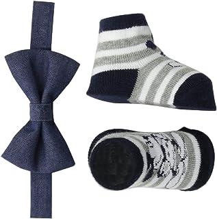 Disney - Conjunto de pajarita y calcetines para bebé, diseño de Mickey Mouse, 0 – 12 meses
