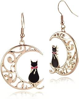 Cute Anime Cartoon Sailor Moon Animal Cat Moon Earrings Gift for Girls Women Jewelry