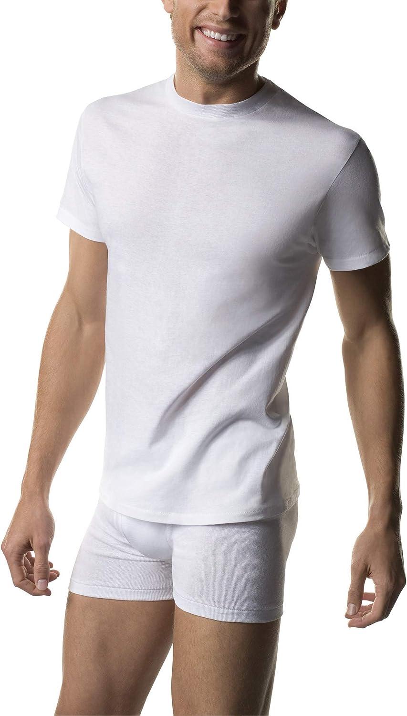 Hanes Tall Men's ComfortSoft Fresh IQ White Crew Neck - 5 Pack