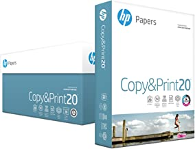 HP Printer Paper, Copy and Print20, 8.5 x 11 Paper, Letter Size, 20lb Paper, 92 Bright, 5,000 Sheets / 10 Ream Carton (200060C) Acid Free Paper