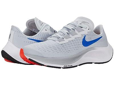 Nike Kids Air Zoom Pegasus 37 (Little Kid/Big Kid) (Pure Platinum/Racer Blue/Wolf Grey) Kid