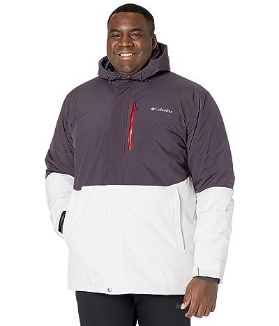 Columbia Big Tall Winter District Jacket (Nimbus Grey/Dark Purple) Men